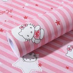 decal giấy dán tường kitty sao hồng