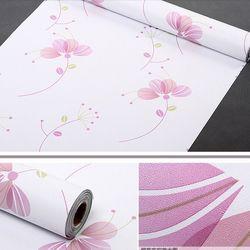 decal giấy dán tường hoa bốn cánh nền trắng giá sỉ