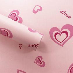decal giấy dán tường trái tim đỏ