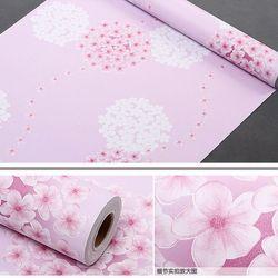 decal giấy dán tường hoa chùm trắng hồng