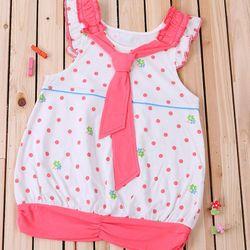 L5165 Đầm bé gái thắt