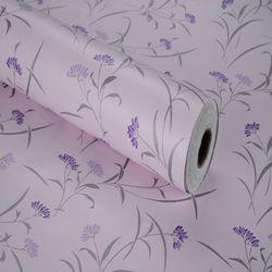 decal giấy dán tường cỏ tím