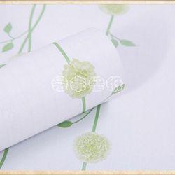decal giấy dán tường dây leo tròn xanh
