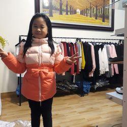 áo khoác trẻ lông vũ giá sỉ
