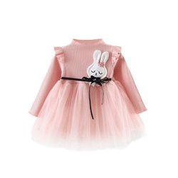Đầm bé gái thời trang kiểu dáng dài tay phong cách công chúa giá sỉ