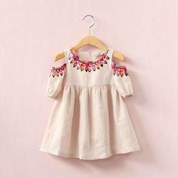 Đầm bé gái thời trang màu sắc hiện đại kiểu dáng dễ thương giá sỉ