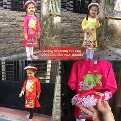 xưởng bibi chuyên sỉ áo dài lụa Thái Tuấn cho bé yêu giá sỉ