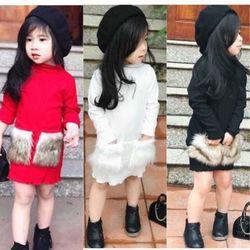 váy túi lông bé gái