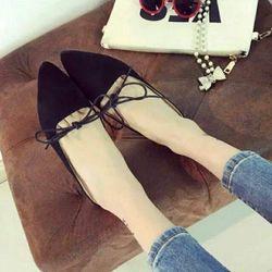 Giày nữ có dây cột được nhiều kiểu-117