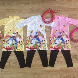 Bộ áo dài màu 3 món size 1-8 giá sỉ