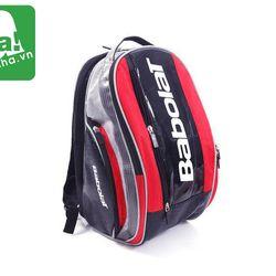 Balo Tennis Babolat Đen Đỏ Viền Xám