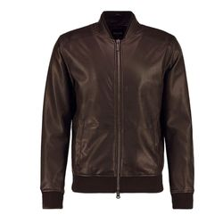Áo khoác da nam cổ bo lót lông LD140 giá sỉ, giá bán buôn