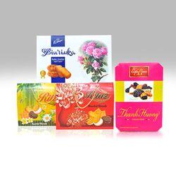 Combo 3 hộp bánh ngọt quà tết bánh ngọt Biurinka Ritaz Assorted và Socola Thanh Hương - ms 18298 giá sỉ