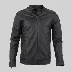 Áo khoác da nam lót lông phối dây kéo tay LD136 giá sỉ