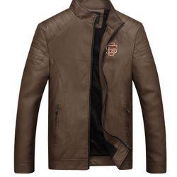 Áo khoác da nam thêu họa tiết LD137 giá sỉ, giá bán buôn