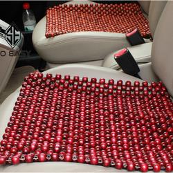 Tấm miếng đệm lót nệm massage ghế xe ô tô xe hơi xe tải ghế văn phòng hạt gỗ tròn hương 45x45 cm giá sỉ