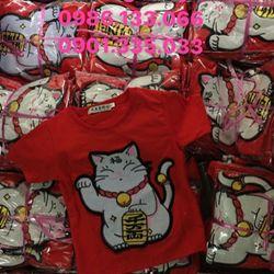 Áo Mèo Thần Tài vải cotton 100 thêu lông cực đẹp giá sỉ