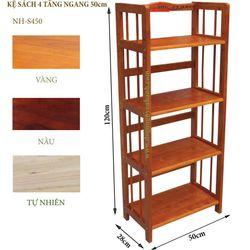 Kệ sách gỗ 4 tầng ngang 50cm- S450