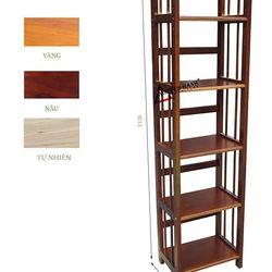 Kệ sách gỗ 5 tầng ngang 40cm- S540