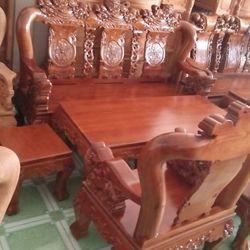 Bộ ghế Sồi Nghê đỉnh tay 12 - 6 món giá sỉ
