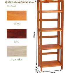 Kệ sách gỗ 4 tầng ngang 40cm - S440