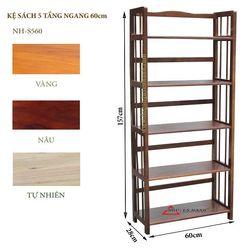 Kệ sách gỗ 5 tầng ngang 60cm - S560