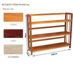 Kệ sách gỗ 3 tầng 100cm - S3100