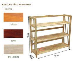 Kệ sách gỗ 3 tầng ngang 90cm - S390