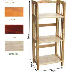 Kệ sách gỗ 3 tầng ngang 40cm- S340