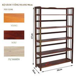 Kệ sách gỗ 5 tầng ngang 90cm -S590