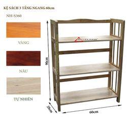Kệ sách gỗ 3 tầng ngang 60cm - S360