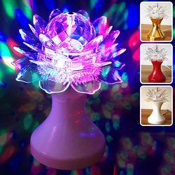 Đèn led xoay hình hoa sen - ms 18366