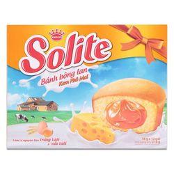 Bánh Bông Lan Tròn Solite Kem Phô Mai 216g - 10 hộp/thùng giá sỉ