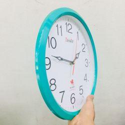 Đồng hồ treo tường hình tròn Vati D4 xanh - Món quà tân gia ý nghĩa giá sỉ