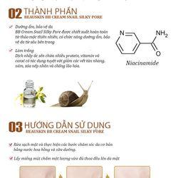 Kem Nền Snail Silky Pore BB Cream