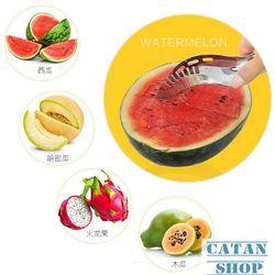 Dao cắt dưa hấu siêu nhanh inox không gỉ bổ dưa gọt dưa hấu trang trí dĩa trái cây GD43-DCDH