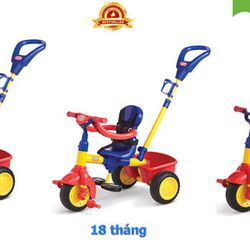 Xe đạp 3 bánh trẻ em Little-Tikes LT-627354 Màu Đỏ Vàng
