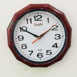 Đồng hồ treo tường hình tròn Vati s2 Nâu -Cực bền giá sỉ