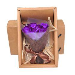 Túi quà tặng hoa hồng sáp 7 bông sang trọng Màu ngẫu nhiên - ms 18392 giá sỉ