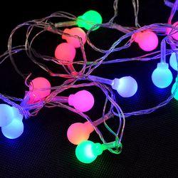 Dây đèn Led trang trí nháy nhiều màu hình trái châu nhỏ 2 m - ms 18394