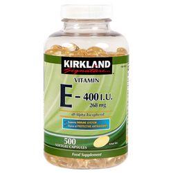 Vitamin E Thiên Nhiên 400 IU Kirkland Signature 500 Viên Của Mỹ