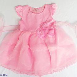 Đầm voan bé gái màu 3 bông eo s1-8 giá sỉ