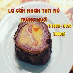 Bánh tét lá cẩm nhân thịt mỡ trứng muối giá sỉ