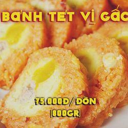Bánh tét vị gấc nhân thịt mỡ trứng muối giá sỉ