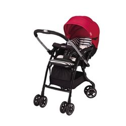 Xe đẩy trẻ em Aprica Luxuna Dual CTS Contrast Red