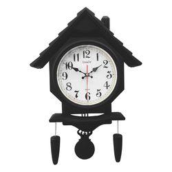 Đồng hồ treo tường hình ngôi nhà có quả lắc Vati S106 đen - độc đáo và sang trọng giá sỉ