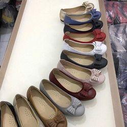 Giày Búp Bê Da Mềm Đính Nơ-MS31VN210 giá sỉ