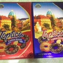 bánh mứt tết 2018- bánh quy bơ Toptica 580g 45k giá sỉ