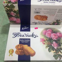 bánh mứt tết 2018- bánh quy bơ biurinka xanh 550g 45k giá sỉ