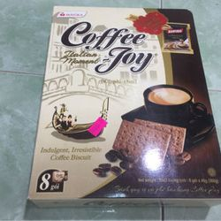 bánh mứt tết 2018- bánh quy vị cà phê hảo hạng coffee joy 360g 45k giá sỉ